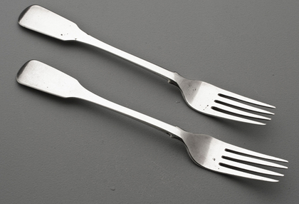 Cape Silver Tableforks (Pair) - Lodewyk Beck