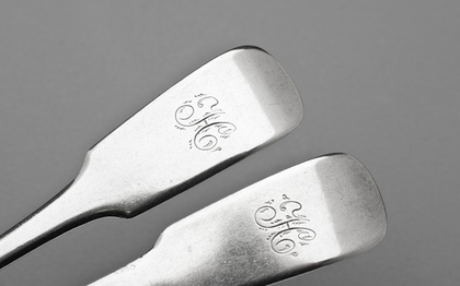 Canadian Silver Tablespoons (Pair) - John Munro, Saint John, New Brunswick