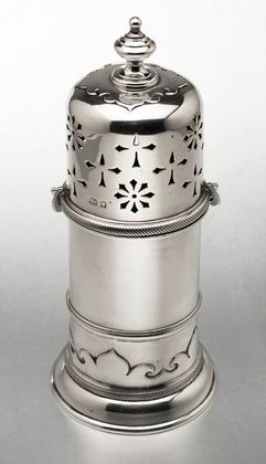 Large Lighthouse Silver Sugar Caster - James Robinson Inc New York