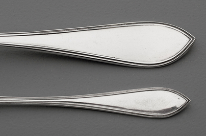 Dutch Silver Ice Cream Spoon Set - 12 Spoons and Serving Spoon