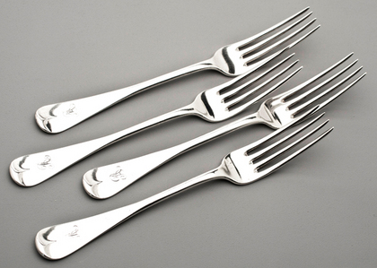 Scottish Silver Tableforks (Set of 12) - Robert Gray & Sons