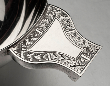 Traditional Sterling Silver Quaich or Marriage Cup - Goldsmiths & Silversmiths Company
