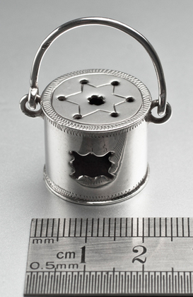 Dutch Silver Miniature Foot Stove (Foot Warmer) - Karel Nicolaas zur Muhlen