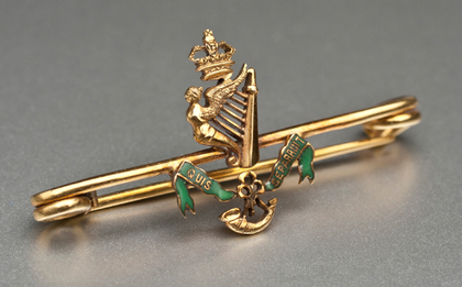 Irish Gold Sweetheart Brooch - Royal Ulster Rifles