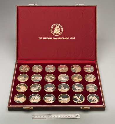 Wildlife Society 50th Anniversary Silver Gilt Medallion Set (24 medallions in original box)