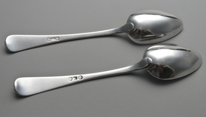 Cape Silver Tablespoons (Pair 1) - Cape Regiment, Bugle, Johannes Combrink