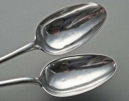Cape Silver Tablespoons (Pair 2) - Cape Regiment, Bugle, Johannes Combrink