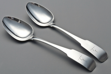 Irish Georgian Silver Serving Spoons (Pair) - William Ward, Dublin
