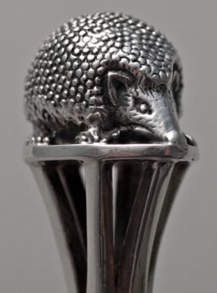 Arts & Crafts Silver Hedgehog Christening Spoon - Francis Cooper