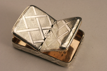 Silver Snuff box (double lidded)