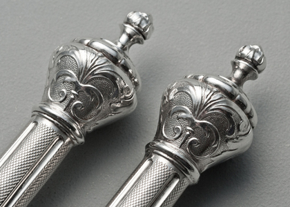 French Silver 2 Pronged Forks - 800