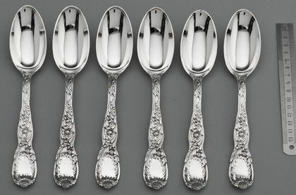 Tiffany Sterling Silver Indian Chrysanthemum Tablespoons (Set of 6)