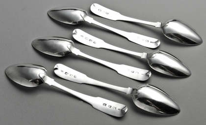 Irish Georgian Silver Dessert Spoons (Set of 6) - Samuel Neville