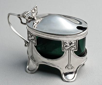 Art Nouveau Antique Silver Mustard Pot