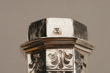 George I Octagonal Silver Caster - Thomas Bamford