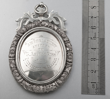 Tain Royal Academy Victorian Prize Medallion - Provost of Tain Fowler, Ross