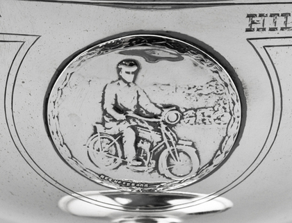 Douglas Motorcycles Antique Silver Trophy - Fritz Zurcher - DJ Run