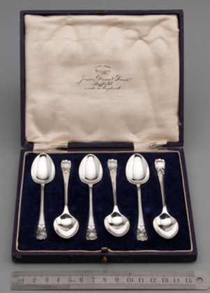 Sterling Silver Shell Coffee Spoons (Set of 6)