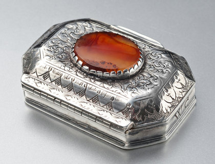 17th Century Silver & Agate Spice Box