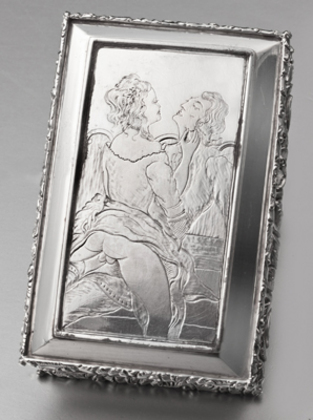 Military Victorian Silver Snuff Box - 20th Royal Rifle Volunteers, Erotic Engraving