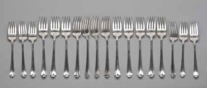 Wallace Georgian Colonial Sterling 1932 Tableforks (Set of 12) and Salad Forks (Set of 6)