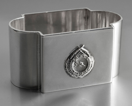 South African National Rifle Association Dewar Shield Sterling Silver Napkin Ring