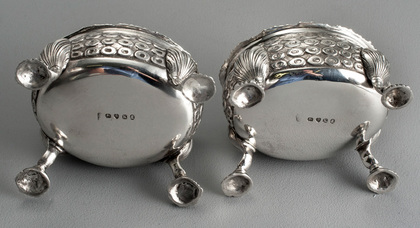 Georgian Silver Salt Cellars (Pair) - William Fountain