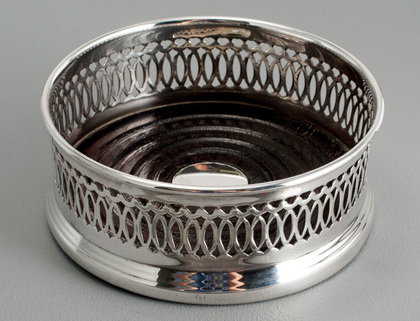 South African Sterling Silver Pierced Wine Coaster