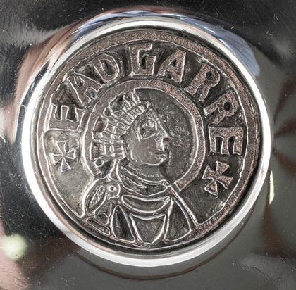 Grant Macdonald Sterling Silver Wine Taster - King Edgar the Peaceful, 1000 Years of English Monarchy, 973-1973