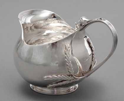 Sarah Jones Arts & Crafts Wheat Sheaf & Mouse Silver Cream Jug
