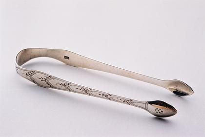 Hester Bateman Silver sugar tongs