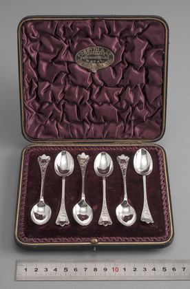 Victorian Silver Trefid Teaspoons (Set of 6) - Bright Cut Engraving