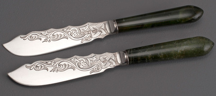 Antique Silver Tea or Butter Knives (Pair) - Drummond, Oban