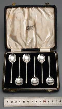 Art Deco Sterling Silver Demitasse Coffee Spoons - L Pinn & Co, Cape Town