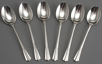 Art Deco Sterling Silver Coffee Spoons (Set of 6)