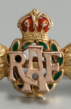 RAF Gold & Enamel Sweetheart Brooch  - World War II