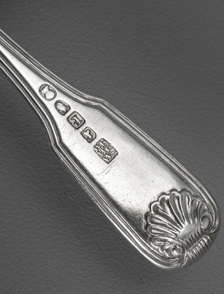 Chinese Export Silver Dessert Fork - WE WE WC