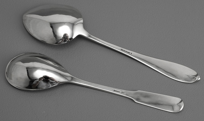 American Sterling Silver Hand Forged Arts & Crafts Silver Spoons (2) - Old Newbury Crafters, Arthur Stone