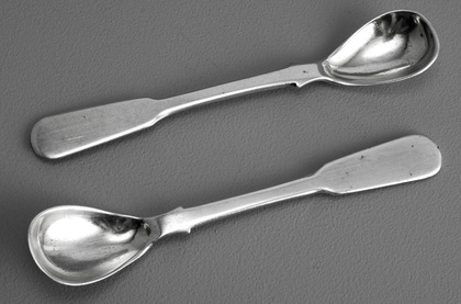 Cape Silver Mustard Spoons - John Townsend