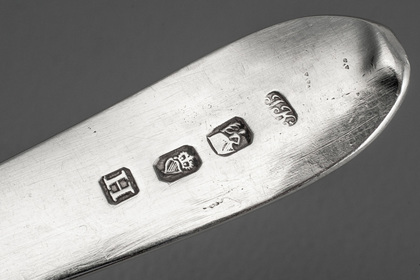 Irish Provincial Silver Bright Cut Celtic Point Tablespoon - Joseph Kinselagh, Cork