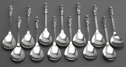 Sterling Silver Apostle Spoon Set (13) - Heritage Collection
