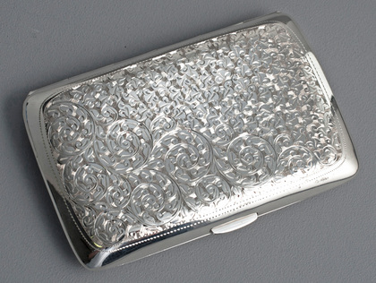 Oliff Antique Silver Cigar Case - Honourable Albert Thomas Oliff