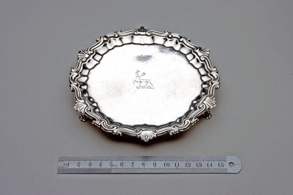 George II Provincial silver Waiter