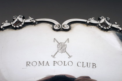 Italian silver bowl, Roma Polo Club