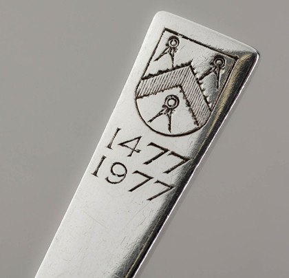 Gerald Benney Silver Spoon - Worshipful Company of Carpenters 500 Anniversary, 1477-1977