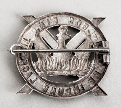 Antique Silver Scottish Regimental or Clan Badge Brooch - Nemo Me Impune Lacessit