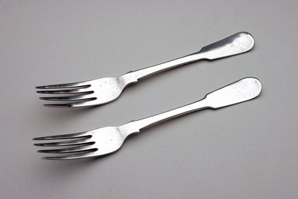 Cape Silver Tableforks (pair) - John Townsend