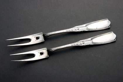 Jugendstil Silver Picklefork set (pair in original box)