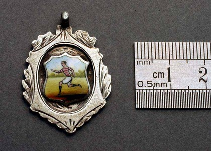 Silver and Enamel Football Fob