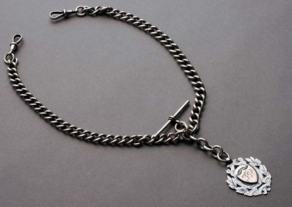 Silver Albert Watch Chain (double)